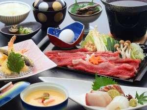 日本三大銘柄 近江牛がたっぷり200gついたすき焼き会席