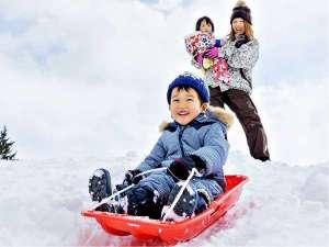 キッズエリアもあり、はじめての雪遊びも安心&楽しい