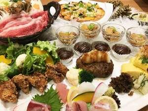 人気No1近江牛100%のハンバーグや、すき焼など近江牛料理が楽しめる大皿料理