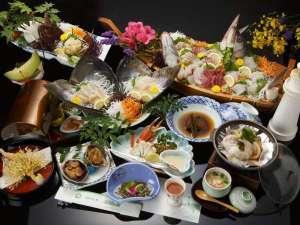 【伊勢海老付き龍宮城コース】季節や、仕入れによりお料理の内容が変更となります。