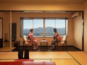 【山の眺めのあるお部屋】禁煙・和室12畳(4Fから5F) 広縁あり一例