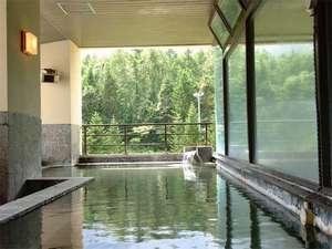 夏の大浴場露天風呂