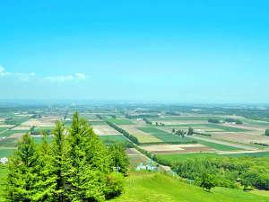 【新嵐山展望台】雄大な十勝平野を一望。
