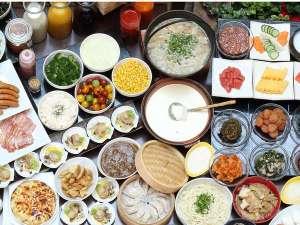 北海道産食材をメインにした約40品目の和洋食朝食バイキング♪