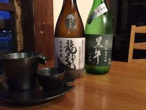 和歌山の幻の地酒「龍神丸」他シェフ厳選の地酒をお楽しみ下さい!