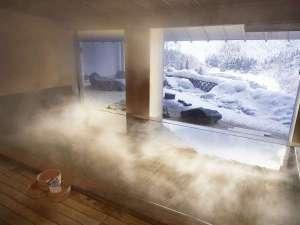 冬 檜の香り立つ古代檜風呂