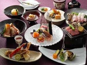 ■旬彩膳/あかん遊久の里鶴雅を代表する特別会席です。(写真は一例)