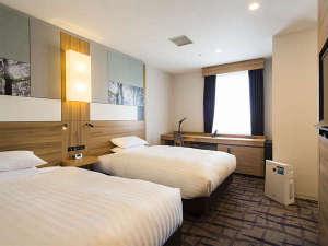 ツインルーム■・部屋広さ…21㎡・宿泊人数…1~3名・ベッド幅…120cm