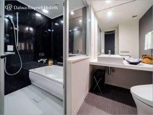モデレート&デラックスタイプはセパレートバスルームで快適♪(スタンダードルームはユニットバス)