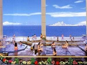 龍宮城スパホテル三日月 ご婦人展望風呂「富士の湯」