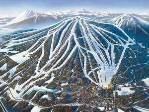 日本最大級のスキー場直結!