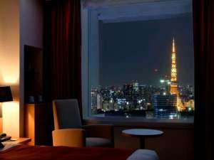 東京タワー側のお部屋からの眺望