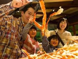 【北海道バイキング(夕食)】で蟹も食べ放題!北海道をいっぱい召し上がれ♪※冬期11/26~迄予定