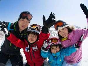 【家族みんなでスキー】広いゲレンデは初心者コースもあるから安心♪