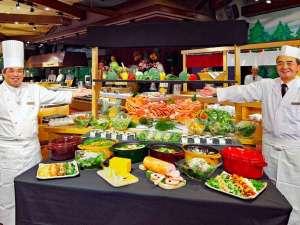 【バイキング(夕食)】北海道の旬・新鮮な食材をふんだんに使った地産地消のお食事をぜひ。