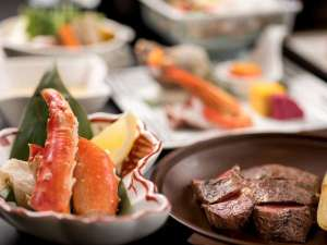 【雪花亭・日本料理](夕食]】こだわりの北海道素材。 海・山ともに近い立地、ルスツの美味しいをお届け。