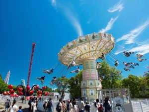 【遊園地】60数種類以上の乗り物たくさん★北海道の空の下思いっきり遊ぼう
