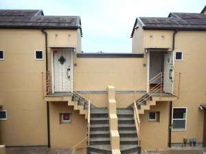 各お部屋の玄関。ご宿泊いただいた皆様のプライベート空間が保たれます。