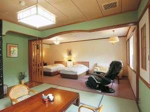 【和洋特別室】洋室25㎡+和室8畳のゆったりしたお部屋(マッサージ機完備)