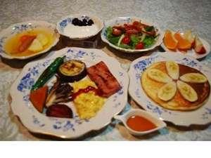朝食も新鮮野菜