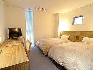 ツインルーム(洋室)ベッドタイプをご希望の方はこちら。(1~2名様でのご利用となります)