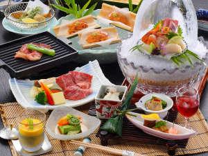 初夏の特撰会席のお料理☆(期間限定4/26~6/27) ※画像のウニは3名様分です