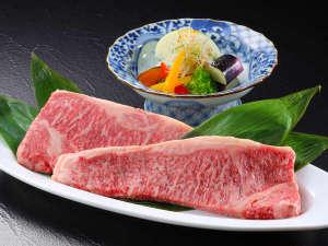 ☆A5ランクの仙台牛ロースステーキ☆食材例(画像は約500gです)
