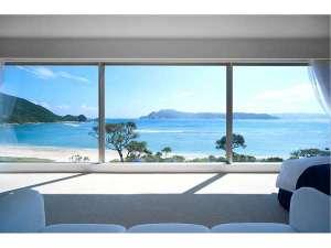 お部屋から眺める大島海峡