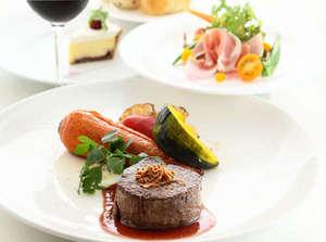 【道産牛のグリルディナー】選りすぐりの食材を使用した当館人気№1のディナーメニュー(イメージ)