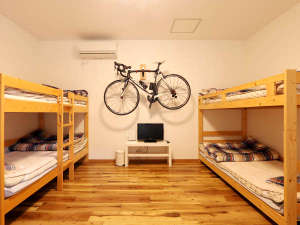 広々としたダブルベット×2つのお部屋です