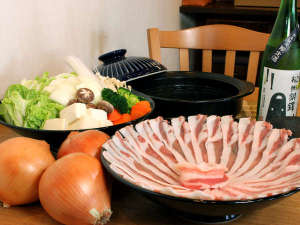 淡路のブランド豚「淡路ポーク」を使用したしゃぶしゃぶコース♪野菜も地場の物を!