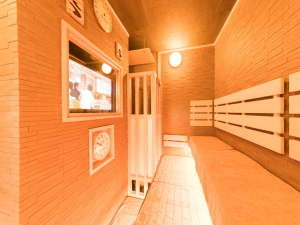 ◆男性大浴場高温サウナ テレビ付き