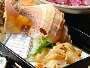 【日高名産ツブプラン】の夕食お刺身の写真です。(イメージ)