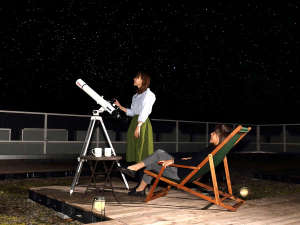 スターウォッチング毎日開催☆月のクレーター、木星の縞模様や土星の輪を天体望遠鏡で見てみよう♪