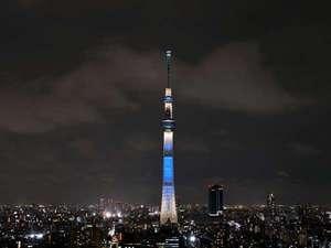東京スカイツリ-ライティング「粋」