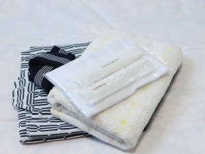 *【アメニティ一例】浴衣・バスタオル・タオル・ハミガキセット・くし・その他多数有