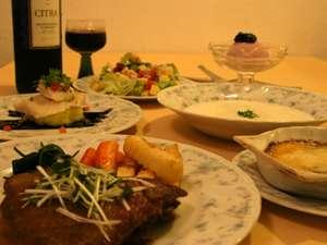 《夕食》気取らないフレンチとイタリアンのミックスディナー