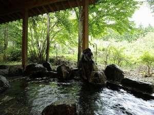 森林浴も楽しめる開放感のある露天風呂