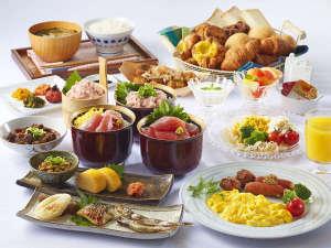 種類豊富な朝食ビュッフェ☆6:00~9:30