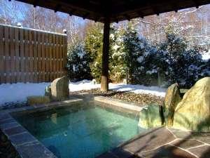 冬の貸切露天風呂「亀の湯」