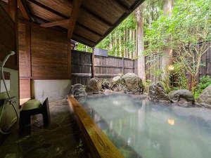 【貸切露天家族風呂】自然豊かな貸切露天風呂