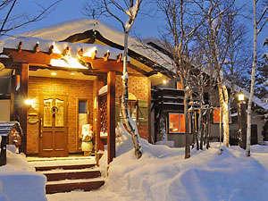 ペンションヴァンブラン、冬の外観