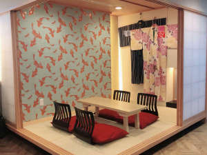 茶室スタイルラウンジと座椅子