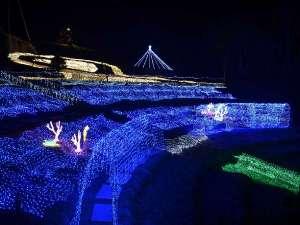 道の駅大月のイルミネーション12月24日~1月10まで点灯してます。