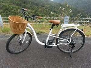 1月より電動自転車を貸出します。その他全客室ネット接続無料になりました。