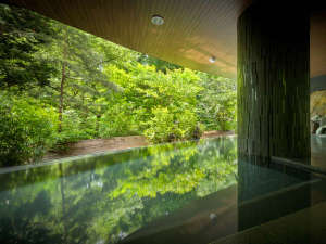 渓谷美で有名な磊々峡リニューアルした露天風呂はその迫力の景観が目の前に迫るインフィニティスタイル