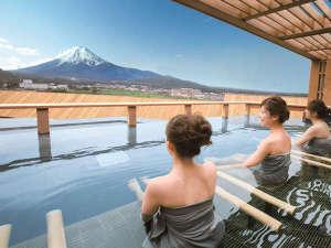 旅の感動体験!富士山と向かい会う絶景の屋上露天風呂(男女入れ替え制)