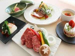 ふらの和牛コースの料理例