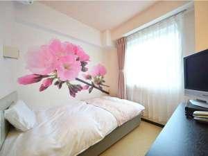 【女性限定フロア】2016年8月に新設されたフロアです♪桜の他にも色々な花の壁紙のお部屋があります☆彡