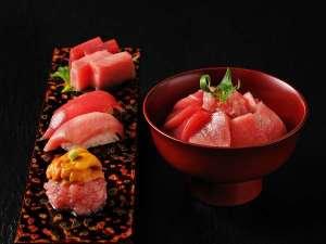 【秋冬の特別会席】お造りや握り寿司、漬け丼など、大間のまぐろを様々な食べ方で